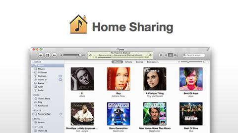 الإستفادة من Home Sharing